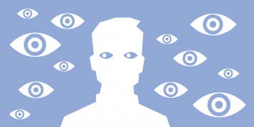 Facebook eyes illustration