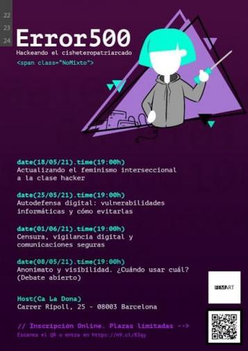 cartell amb les activitats en espanyol