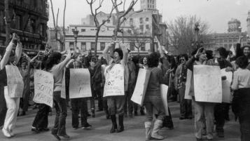 Campanya pel Dret a l'avortament, 1979. Arxiu Ca La Dona